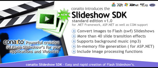 conaito Slideshow SDK – Easy and rapid creation of Flash Slideshows!
