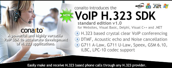 VoIP H.323 SDK for .NET and ActiveX
