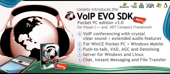 VoIP EVO SDK for Pocket PC and Windows Mobile