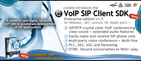 VoIP SIP Client SDK for .NET and ActiveX