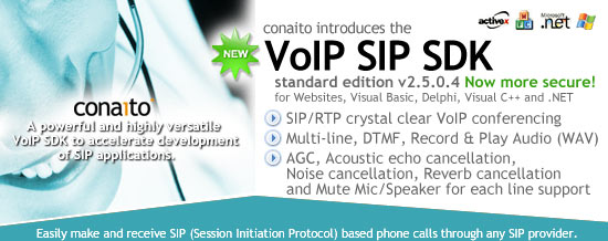 VoIP SIP SDK with DLL, ActiveX and .NET