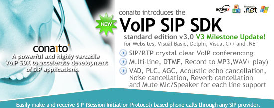 SIP Phone DLL - A powerful and highly versatile VoIP SDK for SIP applications best Screen Shot