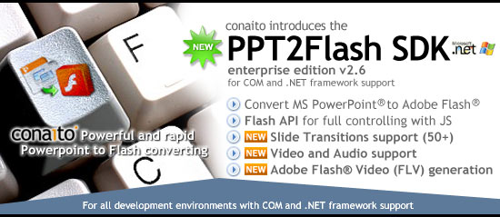 PPT2Flash SDK for developer of professional PowerPoint-to-Flash solution