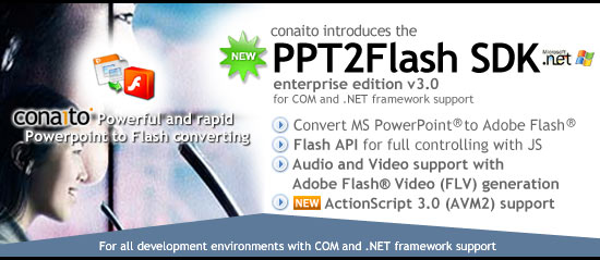 conaito PPT2Flash SDK - Create. Convert. Share.